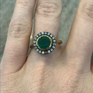 Stella Dot gold and green ring